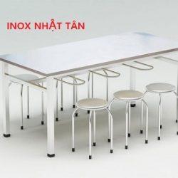 ✅ Bàn ăn inox công nghiệp 6 chỗ ngồi chính hãng