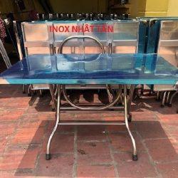 Bàn xếp inox 1000×600 mm chính hãng
