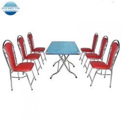 Bộ bàn ghế inox – 003