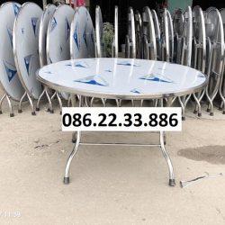 Bàn Tròn Inox 1M giá xuất xưởng