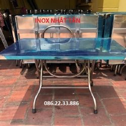Bàn Inox 304 Chữ Nhật 70x120cm