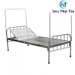 Giường inox 304 nâng đầu