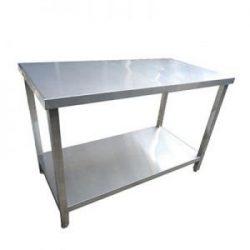 Bàn bếp inox 70x120cm 2 tầng